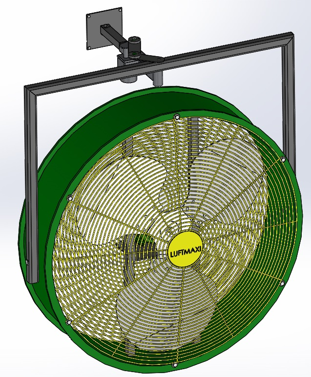 Ventilador Axial Industrial VL800 - T4 | Parede Oscilante