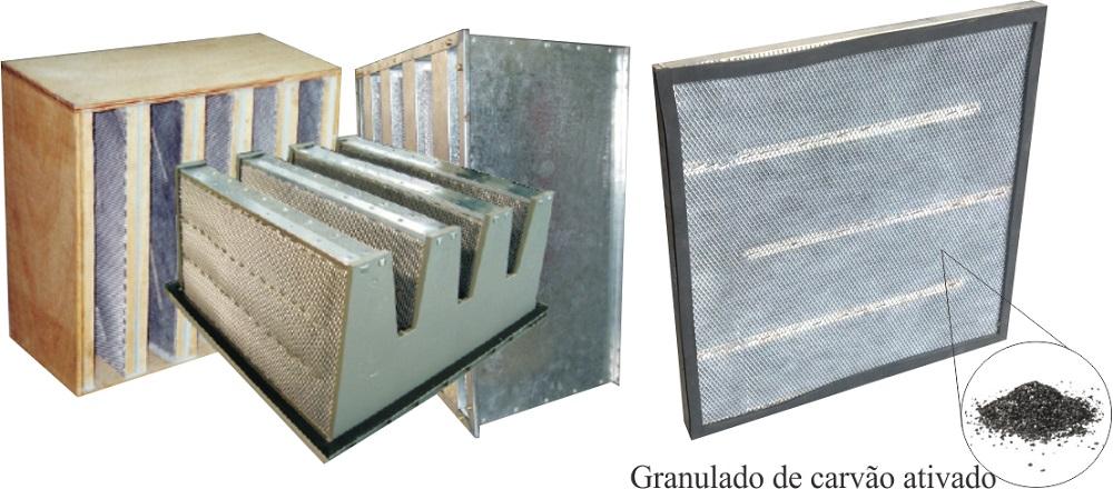 Filtro Granulado de Carvão Ativado