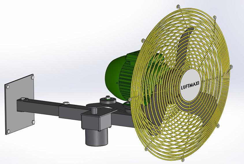 Ventilador Axial Industrial VL500 - M4 | Parede Oscilante
