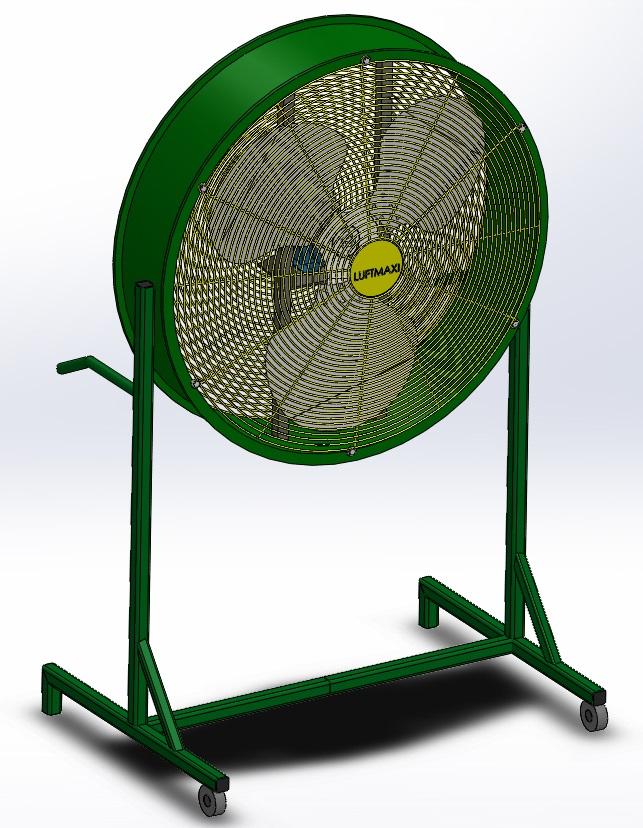 Ventilador Axial Industrial VL630 - T4 | Suporte Móvel