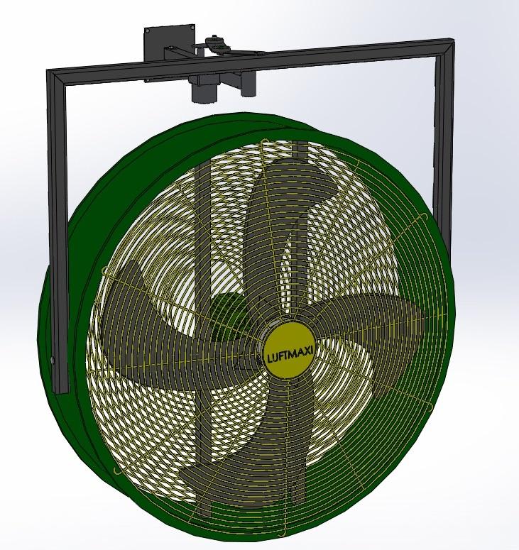 Ventilador Axial Industrial VL800 - M6   Parede Oscilante