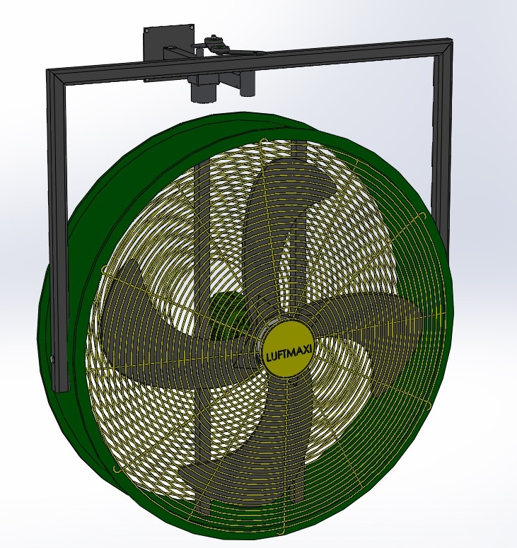 Ventilador Axial Industrial VL800 - T6 | Parede Oscilante