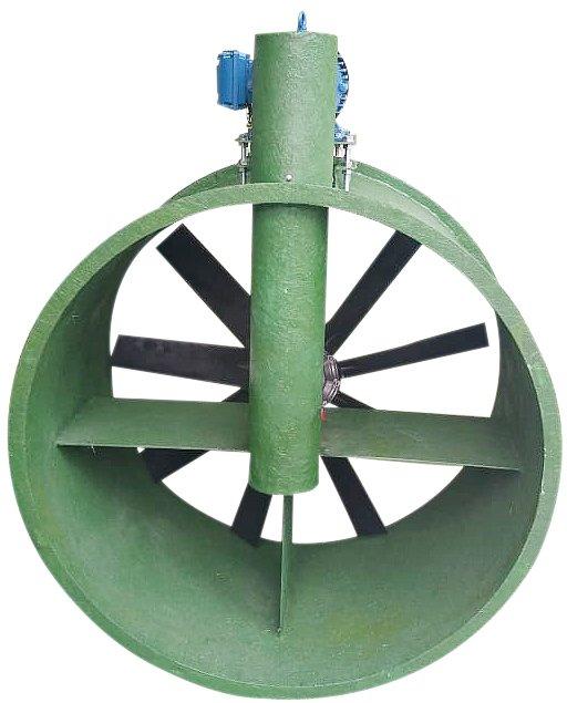 Exaustor Axial em Fibra com Transmissão