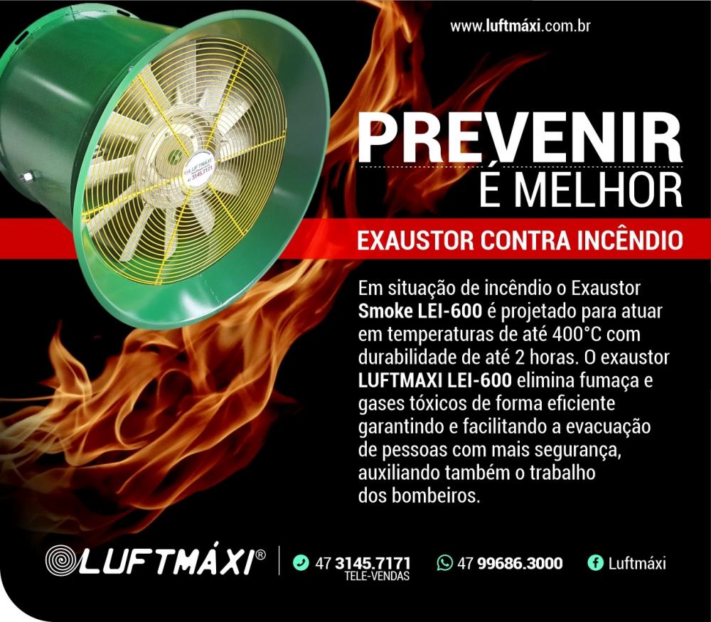 Exaustor contra incêndio - LUFTMAXI