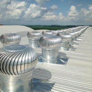 Ventilação galpão industrial