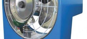 Ventilador industrial de parede com agua